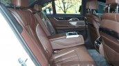 2016 BMW 7 Series M-Sport rear cabin at the IAA 2015