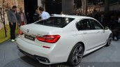 2016 BMW 7 Series M-Sport rear quarter at the IAA 2015