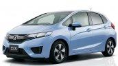 2016 Honda Fit (Honda Jazz) front three quarter light blue unveiled in Japan
