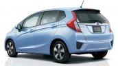 2016 Honda Fit (Honda Jazz) rear three quarter light blue unveiled in Japan