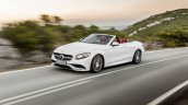 2016 Mercedes-AMG S 63 Cabriolet front three quarter unveiled