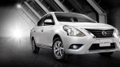 2016 Nissan Almera front three quarter launched in Thailand