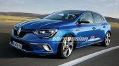 2016 Renault Megane front three quarter leaked