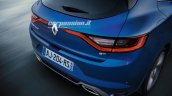 2016 Renault Megane taillamps leaked