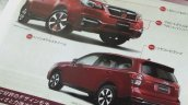 2016 Subaru Forester (facelift) revealed in exterior features scanned brochure