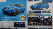 2016 Subaru XV (facelift) exterior and interior Japanese brochure leaked