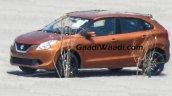 2016 Suzuki Baleno (Maruti YRA) front three quarter orange spotted in the wild