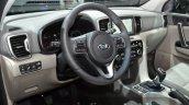 2017 Kia Sportage steering wheel at IAA 2015