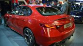 Alfa Romeo Giulia rear three quarter at the IAA 2015