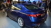Alfa Romeo Giulia rear three quarter blue at the IAA 2015