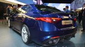 Alfa Romeo Giulia rear three quarter low at the IAA 2015