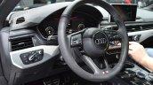 Audi SQ5 TDI Plus steering wheel and instrument cluster at IAA 2015