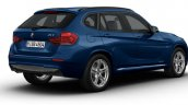 BMW X1 M Sport blue rear three quarter launched in India