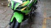 Bajaj Pulsar RS 200 green yellow paint job