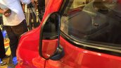 Bajaj Qute rear view mirror during unveil in India