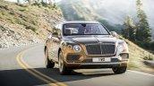 Bentley Bentayga front quarter press shots