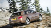 Bentley Bentayga rear quarter press shots
