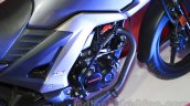 Honda CB Unicorn 160 engine HET at Nepal Auto Show 2015