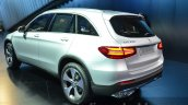 India-bound Mercedes GLC rear three quarter silver at the IAA 2015