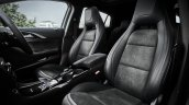 Infiniti Q30 black interior upholstery official image