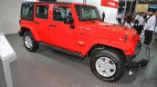 Jeep Wrangler Unlimited Sahara edition front quarter at the 2015 Chengdu Motor Show