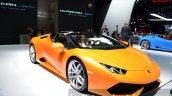 Lamborghini Huracan Spyder LP610-4 front quarter orange at the IAA 2015