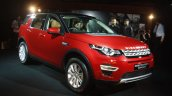 Land Rover Discovery Sport Launch front three quarter red in Mumbai