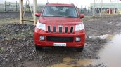 Mahindra TUV300 front red first drive review