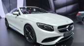 Mercedes AMG S 63 Cabriolet front three quarter at the IAA 2015