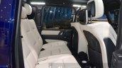 Mercedes G500 V8 rear seats legroom at IAA 2015