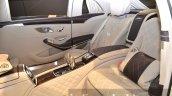 Mercedes Maybach S600 Pullman rear seats at IAA 2015