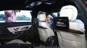 Mercedes-Maybach S600 rear entertainment India launch