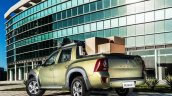 Renault Duster Oroch (Duster pick-up) rear quarter with cargo launched in Brazil