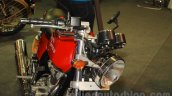 Royal Enfield Continental GT handlebar and headlamp at Nepal Auto Show 2015