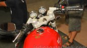 Royal Enfield Continental GT instrument panel at Nepal Auto Show 2015