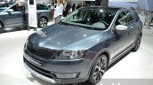 Skoda Rapid Spaceback Scoutline front three quarter left at IAA 2015