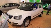Skoda Yeti front three quarter left at Nepal Auto Show 2015