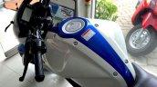 Suzuki Gixxer Metallic Triton Blue with Pearl Mirage White (BAQ) tank