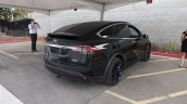 Tesla Model X rear quarter angle launch
