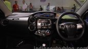 Toyota Etios Cross Diesel dashboard at the Nepal Auto Show 2015