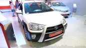 Toyota Etios Cross Diesel front three quarters left at the Nepal Auto Show 2015