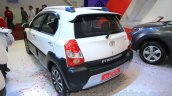 Toyota Etios Cross Diesel rear three quarters left at the Nepal Auto Show 2015