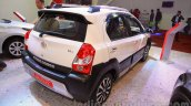 Toyota Etios Cross Diesel rear three quarters right at the Nepal Auto Show 2015
