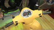 Vespa VX instrument cluster yellow at Nepal Auto Show 2015