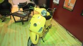 Vespa VX yellow at Nepal Auto Show 2015