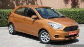 2015 Ford Figo first front three quarter whith wheel toe in drive review