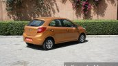 2015 Ford Figo rear three quarter far first drive review