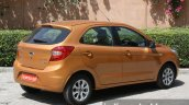 2015 Ford Figo rear three quarter first drive review