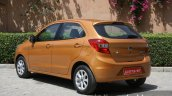 2015 Ford Figo rear three quarter left first drive review