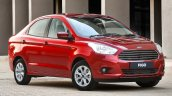 2015 Ford Figo sedan front three quarter launched in South Africa